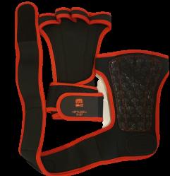 Grep for vektløfting med håndleddsstøtte svart / rød
