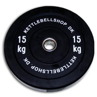 Bumper Plate 15 kg fra Kettlebellshop.dk